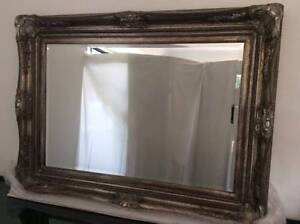MIRROR:  BEVELLED EDGE - Antique Brushed Silver Finish Mudgeeraba Gold Coast South Preview