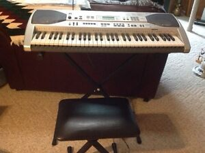 Casio Electric Keyboard & Bench