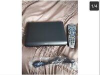 Mini slimline HD sky box with remote