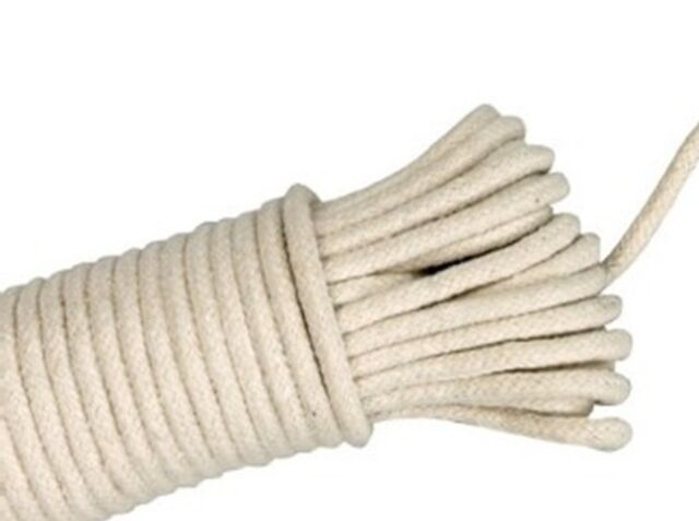 Strong Traditional Cotton Rope Washing Clothes Dryer Line Twine Hank Polley UK