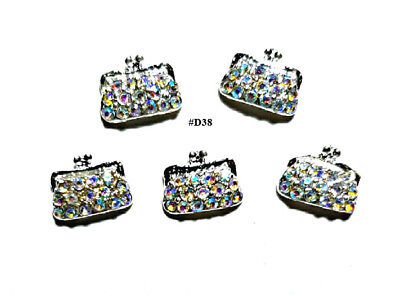 5pc Nail Art Charms 3D Nail Rhinestones Decoration Jewelry DIY Bling - D38 for sale  USA