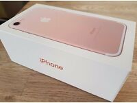 BRAND NEW IPHONE 7 IN BOX WITH CHARGER ROSE GOLD 256GB