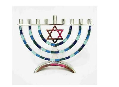 Menorah Hanukkah Decor Candle Holder Target Festival of Lights Silver Blue Green](Hanukkah Decor)