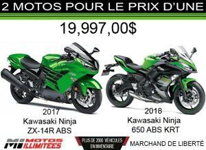 2018 Kawasaki Ninja 650 ABS KRT et Ninja ZX14R ABS