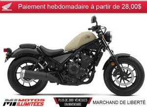 2019 Honda Rebel 500 ABS 500,00$ de crédit en magasin