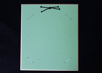 "The frame to display ""Shikishi"" paper/ The japanese design Green color 16d03"