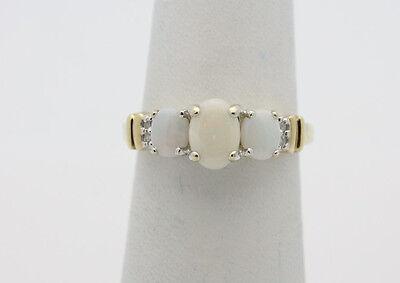 10K YG Yellow Gold Natural Opal 0.80 TCW Estate Ring Womens Sz 6 2.4g  #2269