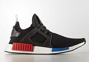 New-Mens-Adidas-NMD-XR1-OG-2017-PK-BY1909-Black-Red-Blue-Primeknit-Boost-Ultra
