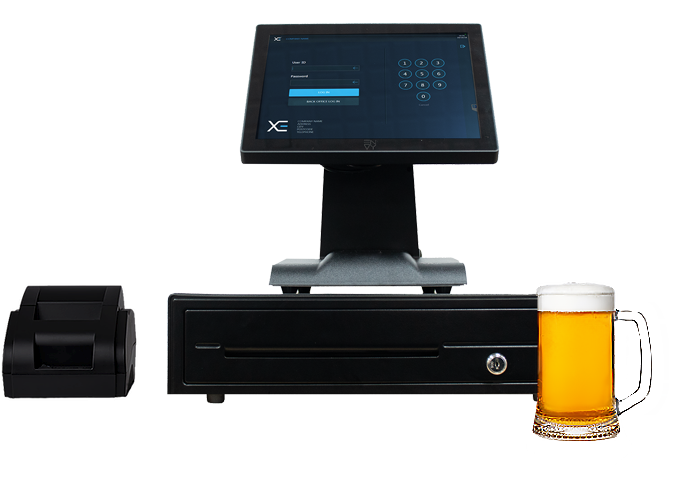 Full POS Touchscreen Cash Register Till System for Nightclub