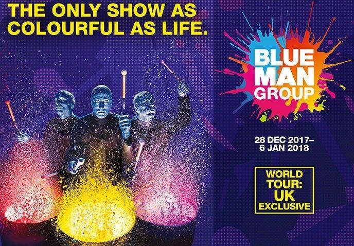 BLUE MAN GROUP - BIRMINGHAM - TWO PREMIUM TICKETS