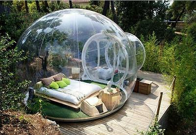 nflatable Bubble Tent House Dome Outdoor Clear Show Room with 1 Tunnel  for sale  Shipping to Canada