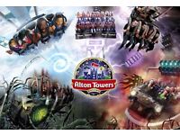 special ALTON TOWERS tickets valid until 31 OCT 2016