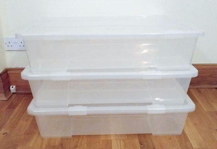 3 ikea samla under bed boxes in west end glasgow gumtree. Black Bedroom Furniture Sets. Home Design Ideas