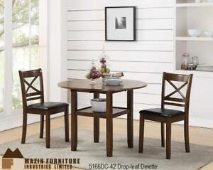 Drop Leaf Dinette Set with 4 chairs (MA515)