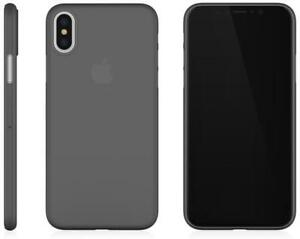 iPhone X Ultra Thin Case Cover + Tempered Glass Screen Protector