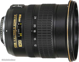 Nikon wide angle 12-24mm f/4 AS DX G SWM AF-S IF ED lens