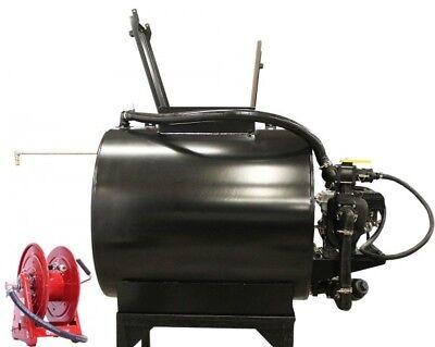 Asphalt Sealcoating Sprayer - 230 Gallons - 6.5 HP - Cast Iron Pump - 75 ft Hose