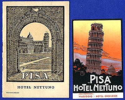 Italien Pisa Stadt Geschichte Kultur Kunst Reiseführer und Postkarte 1925