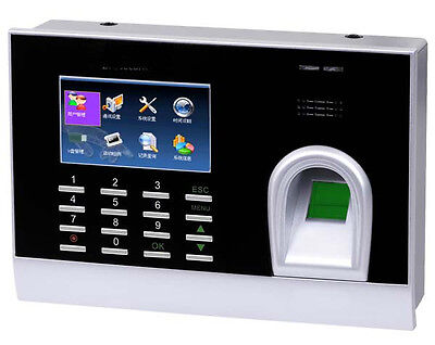 Spanish Biometric Fingerprint Time Clock Time Attendance System Check In/Out Biometric Time Attendance System