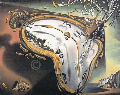 Salvador Dali Explosion Surrealism Melting Clock Print Poster 11x14