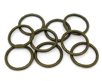 50 Extra Large Open Jump Rings in Antique Bronze Tone - 18mm J07937