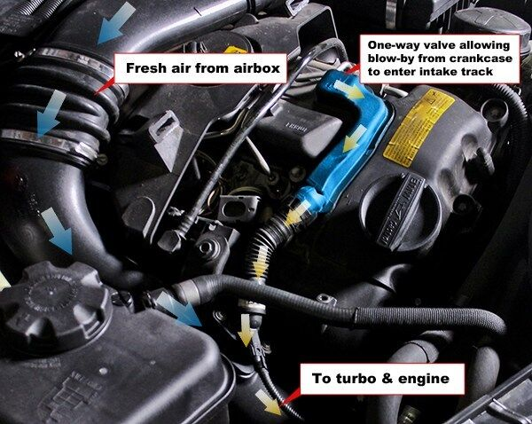 Many modern PCV systems utilize intake vacuum to pull blow-by from the crankcase.