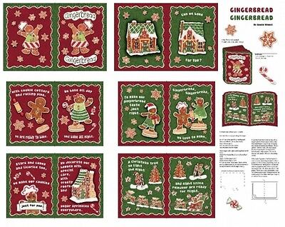 Used, Springs Christmas 46395 Gingerbread Soft Book Panel Cotton Fabric for sale  Camano Island