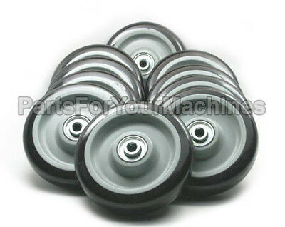 10 Non Marking Wheels 5x1-14 38 Axle Floor Buffers Carts Shelvestoys