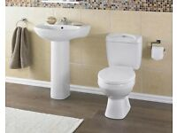 Melbourne Toilet and Basin/pedestal including seat by Premier
