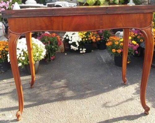 Antique George lll Mahogany Game Table with Swing Gate