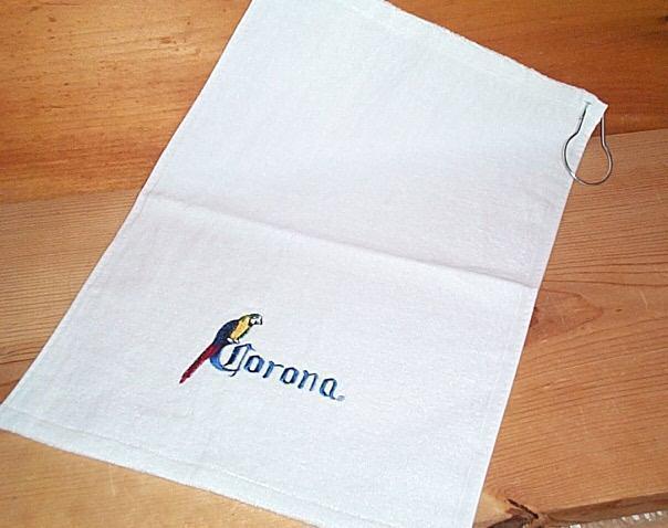 CORONA EXTRA PARROT BAR GOLF TOWEL W/ HOOK NEW