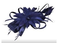 Navy fascinator - for races/ formals