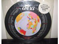 A-Ha World Tour 1986/87 12 Inch Vinyl Picture Disc.