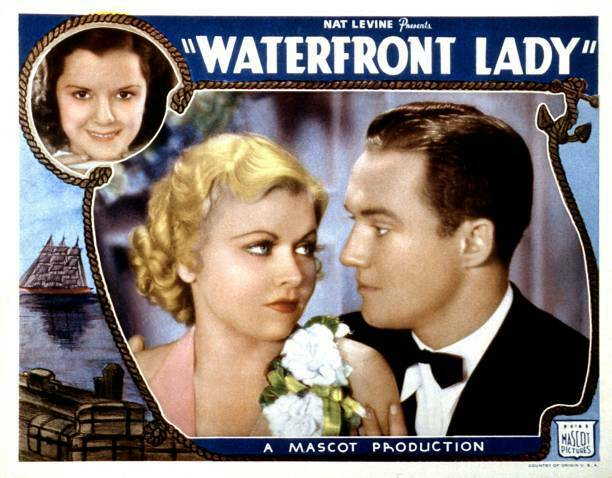 OLD MOVIE PHOTO Waterfront Lady Lobby Card Top Left Ann Rutherford Bottom From L