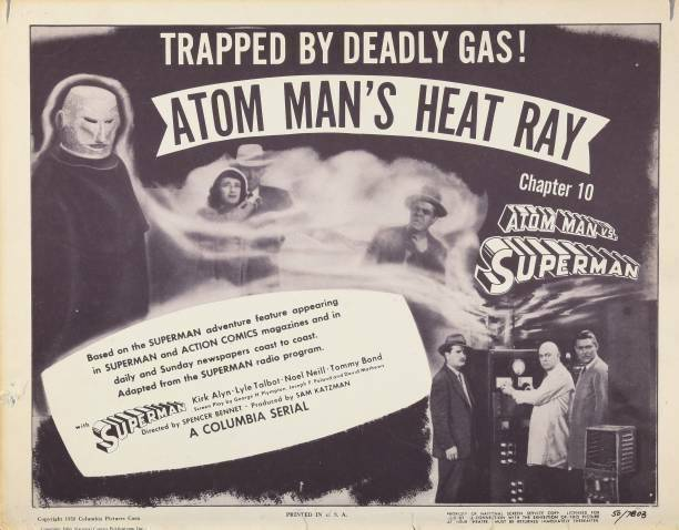Atom Man Vs Superman Us Lobby Card Lyle Talbot Don Harvey 1950 OLD PHOTO