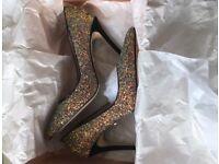 Sparkle Faith Court Shoes