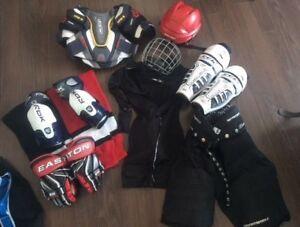 Équipement complet de hockey junior