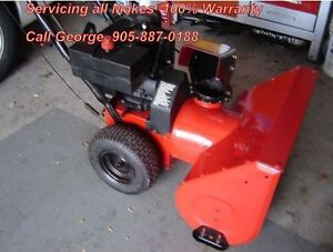 """George's SnowBlower Repair """"At Your Home Service"""" 905-887-0188"""