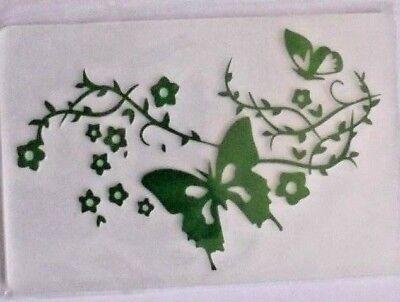 Prägefolder Embossing Folder Prägeplatte Papier prägen Motiv Schmetterling