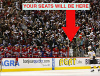 *(3x) TICKETS MONTREAL CANADIENS PRESTIGE 102 ROW BB BENCH