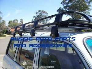 HD 2.2m Steel Roof Rack Cage 4 Toyota Prado 90 Series 1996-2003 with 8 Brackets