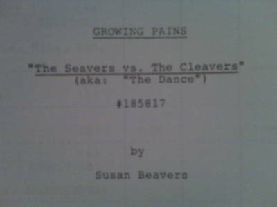 Annette Funicello, Alan Thicke Growing Pains Seavers vs The Cleavers TV Script