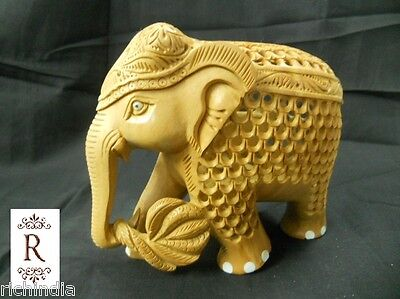 Elephant Animal gift home Decor india wooden handicraft sculpture Forest Nature