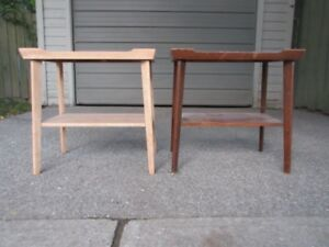 """PAIR OF RETRO SIDE TABLES """"YOURS TO RESTYLE"""""""