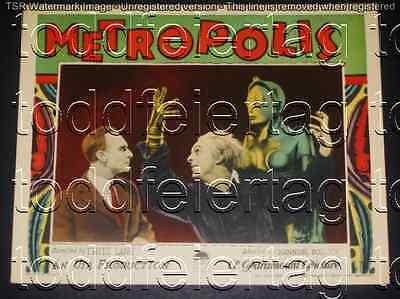 METROPOLIS 1927 * FRITZ LANG * BRIGITTE HELM * SCI-FI * RARE LOBBY CARD * MINT!!