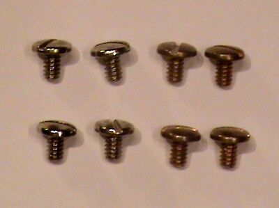 ANTIQUE NATIONAL CASH REGISTER SCREWS FOR END CAPS BRASS/NICKEL