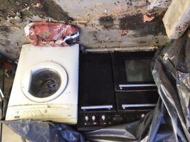 Rangemaster Toledo gas oven/Zanussi Progress washing machine -FREE