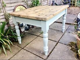 Farmhouse table made to order