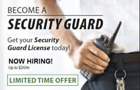 Get your Ontario Security Guard License.