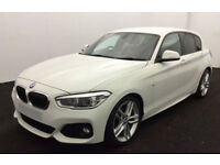 White BMW 116d M Sport Manual 5 door Red Leather 116BHP FROM £72 PER WEEK!